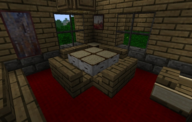 Minecraft chalet for Salle a manger minecraft