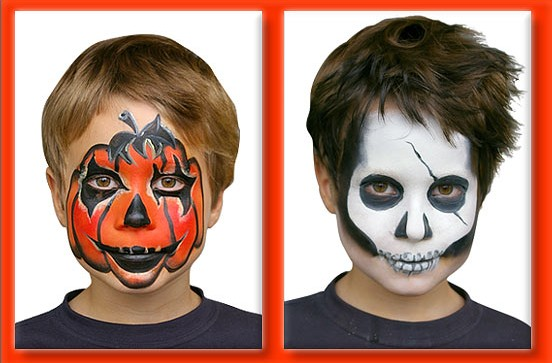 Maquillage visage pour halloween - Maquillage enfant halloween ...