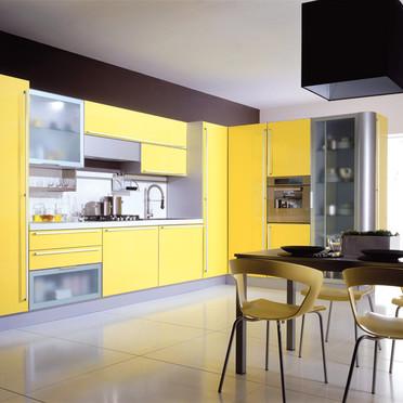 Quelle couleur de mur pour une cuisine avec des meubles jaunes for Quelle peinture pour meuble