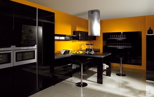 Quelle couleur de mur pour une cuisine avec des meubles for Cuisine mur jaune