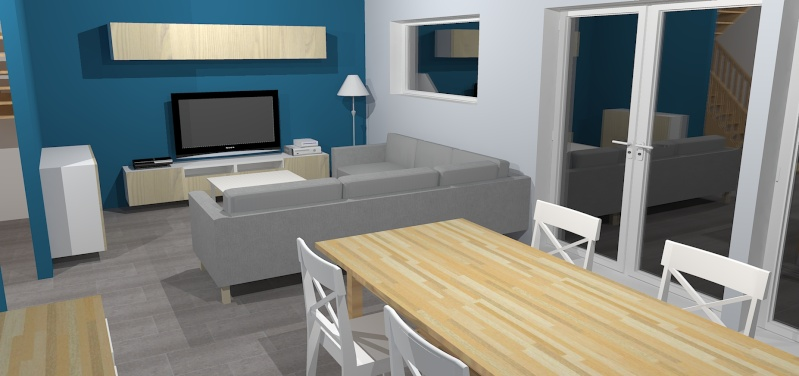Salon de la mort ou des past ques c 39 est la m me chose aux meubles ci - Idee deco salon bleu gris ...