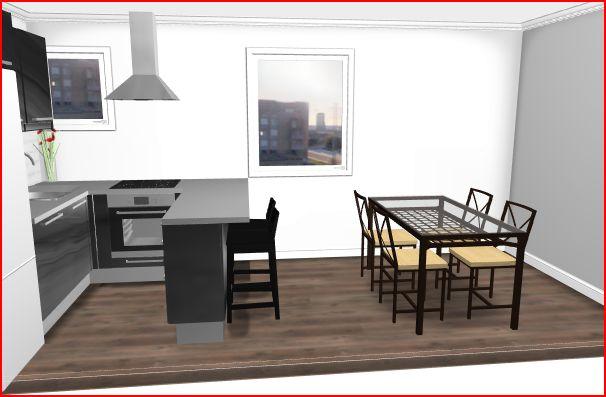 projet cuisine. Black Bedroom Furniture Sets. Home Design Ideas