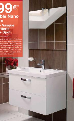Une salle de bain plutot petite for Meuble de salle de bain lapeyre