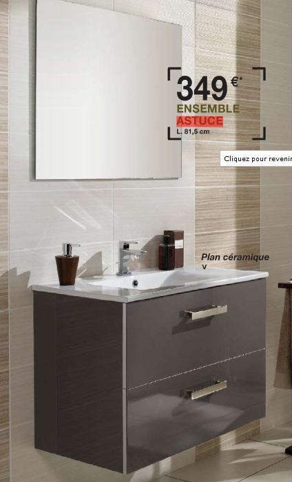 Une salle de bain plutot petite - Meuble de salle de bain lapeyre ...