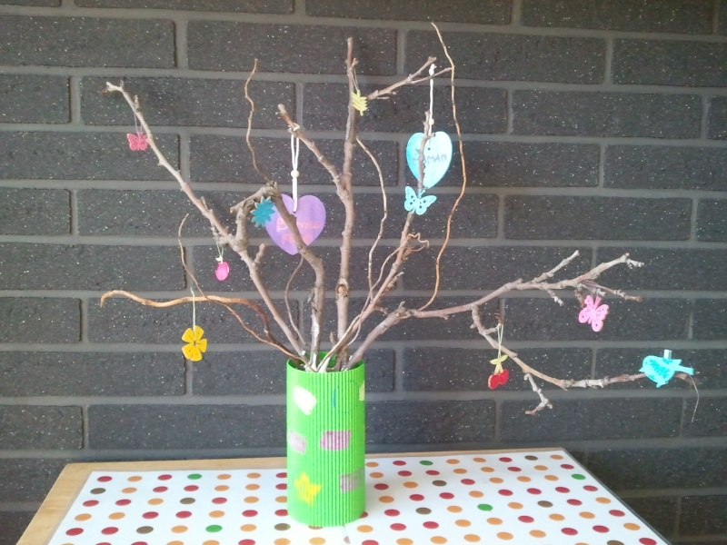 création pour fete des meres vase