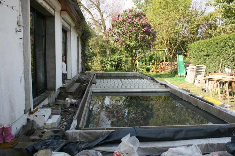 Bassin integr ds une terrasse - Bassin de terrasse en bois ...